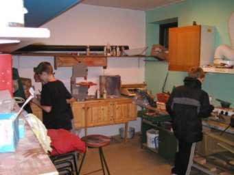 Vores værksted til blinkstøberi og det 'grove arbejde'
